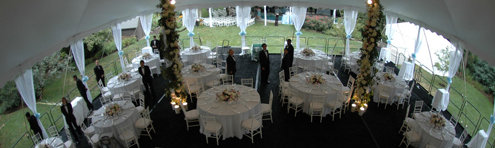 The right table size and arrangement to assure your guests have a pleasant experience while at your event.