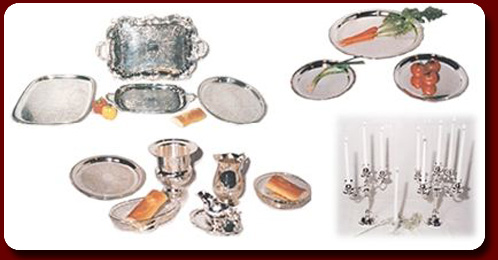 Silver Service  sc 1 st  Prestige Party Rental & Silver trays bowls baskets candelabra and serving utensils to ...